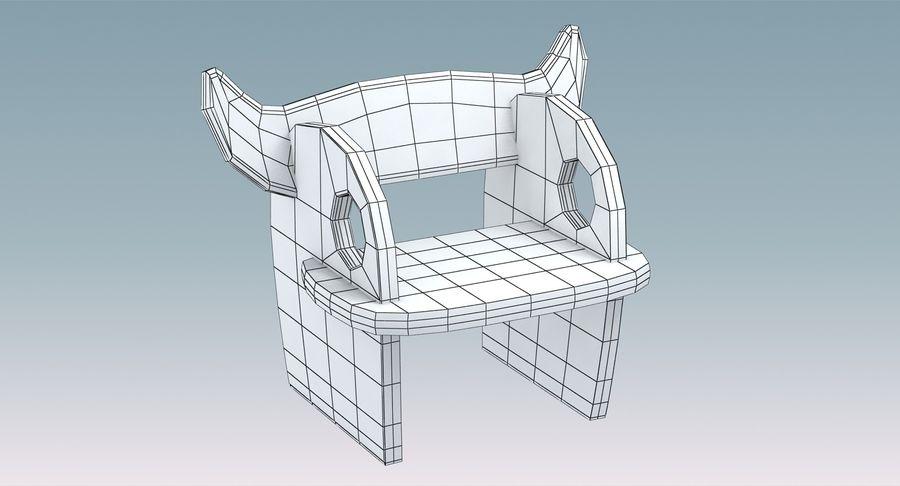 Cadeira para crianças royalty-free 3d model - Preview no. 8