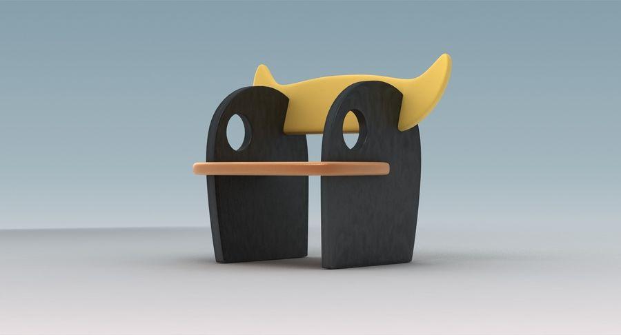 Cadeira para crianças royalty-free 3d model - Preview no. 6