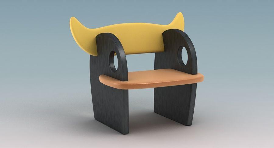 Cadeira para crianças royalty-free 3d model - Preview no. 3