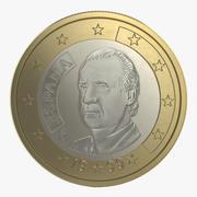 1 Euro-Münze Espana 3D-Modell 3d model
