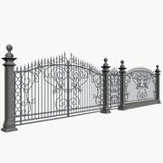 Wrought Fence 3d model