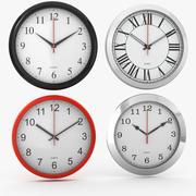 Four Clocks 3d model
