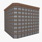 American downtown building 3d model
