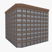アメリカのダウンタウンの建物 3d model