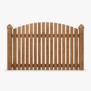 Fence Wood 01 3d model