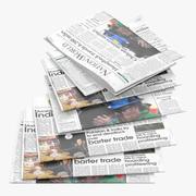 报纸 3d model
