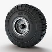 Roue Arctique Pneus 3d model
