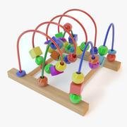 Bead roller coaster 3d model