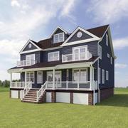 Amerykański dom 3d model