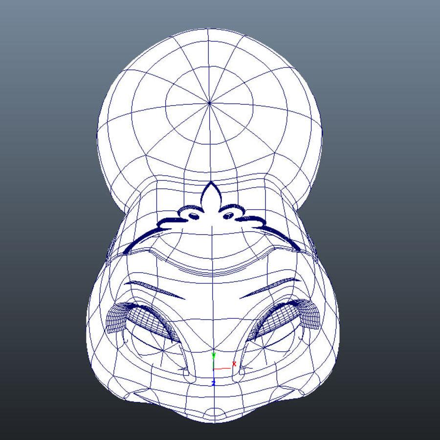 Vrouwelijk karakter hoofd royalty-free 3d model - Preview no. 7