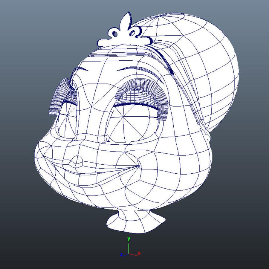 Vrouwelijk karakter hoofd royalty-free 3d model - Preview no. 3