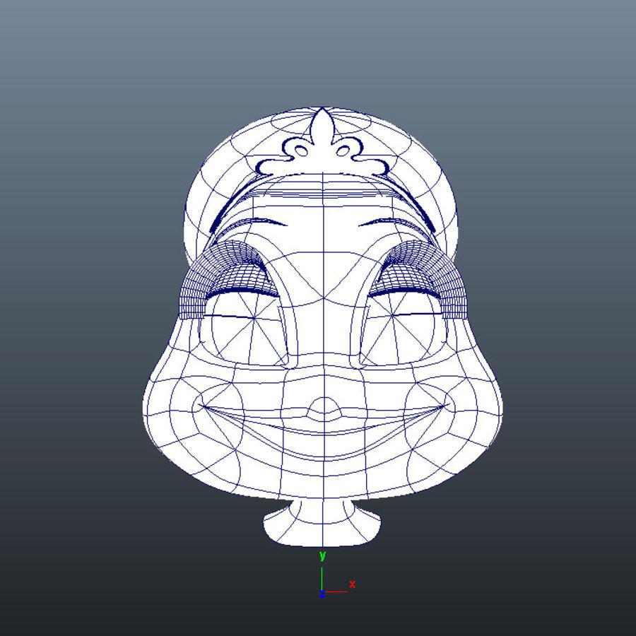Vrouwelijk karakter hoofd royalty-free 3d model - Preview no. 9