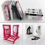 Книжный набор 3d model