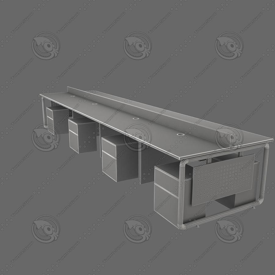 Workstation 8 posti royalty-free 3d model - Preview no. 6