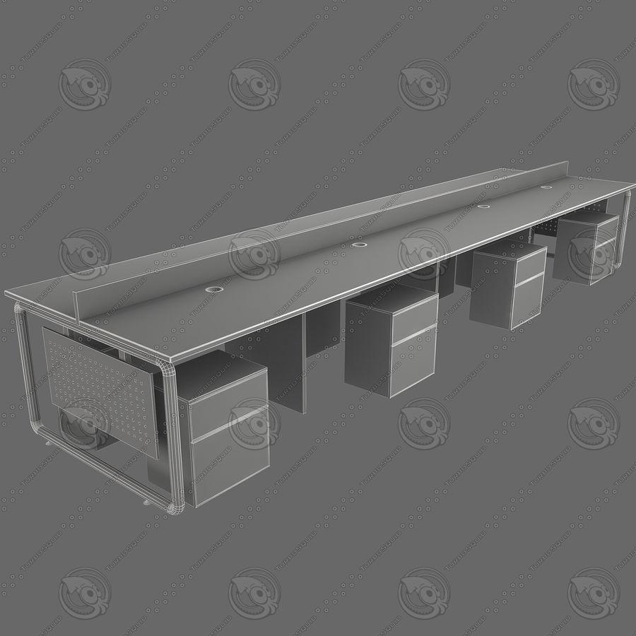 Workstation 8 posti royalty-free 3d model - Preview no. 5