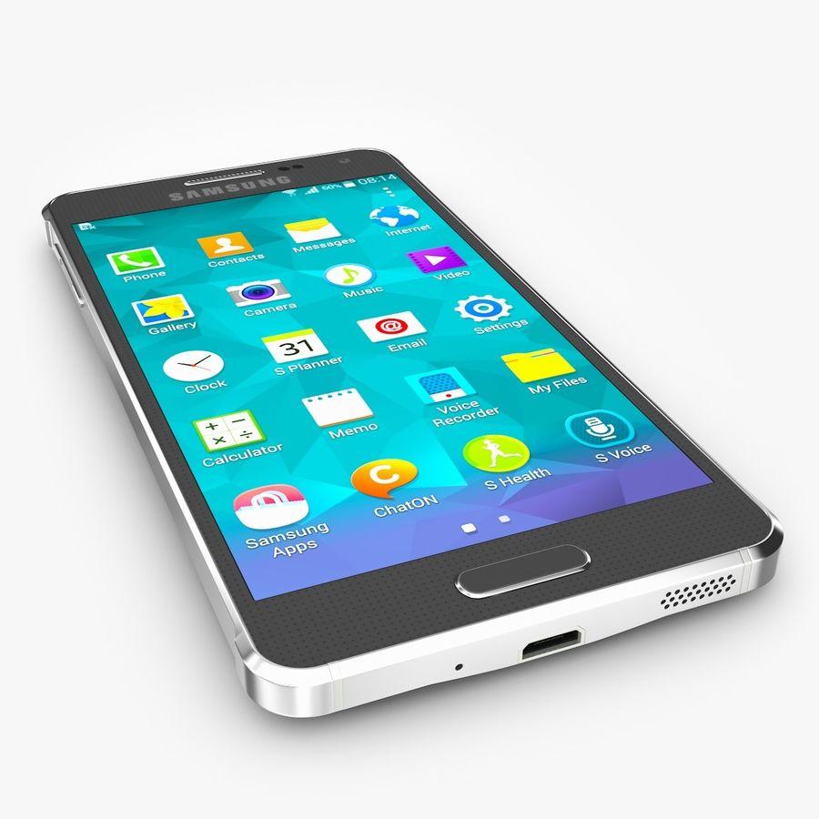Samsung Galaxy Alpha royalty-free 3d model - Preview no. 3