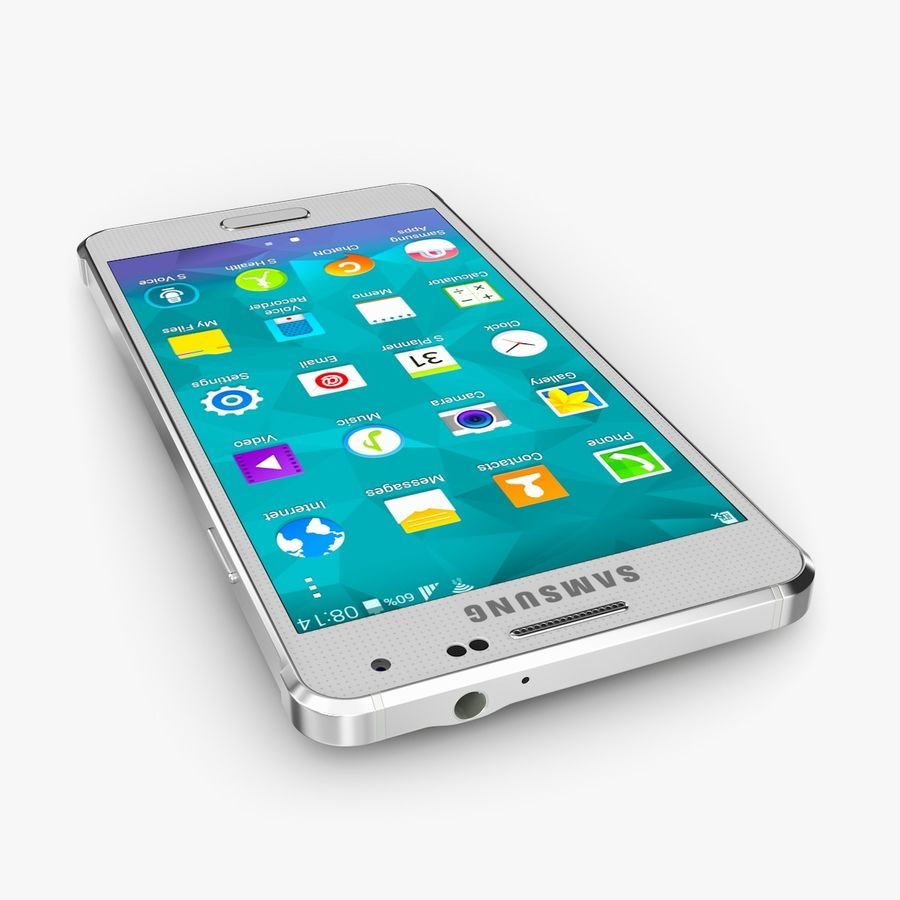 Samsung Galaxy Alpha royalty-free 3d model - Preview no. 6