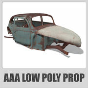 AAA - Old Car - low poly (Game ready) 3d model