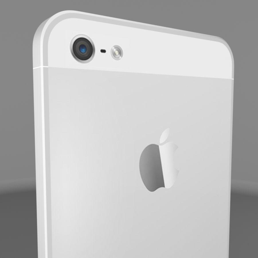 苹果iPhone 5s royalty-free 3d model - Preview no. 7