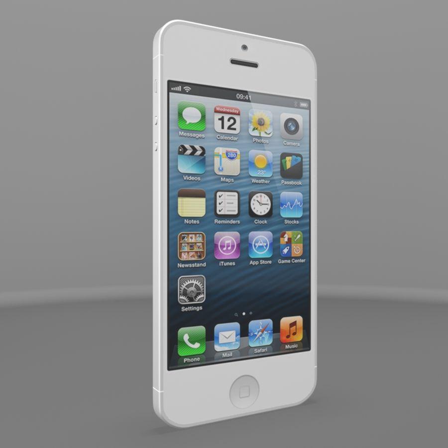 苹果iPhone 5s royalty-free 3d model - Preview no. 1