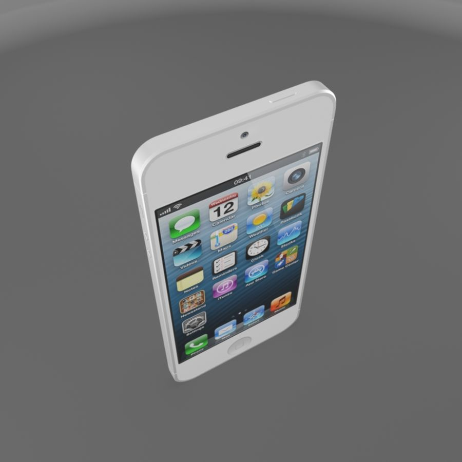 Apple iPhone 5s royalty-free 3d model - Preview no. 6