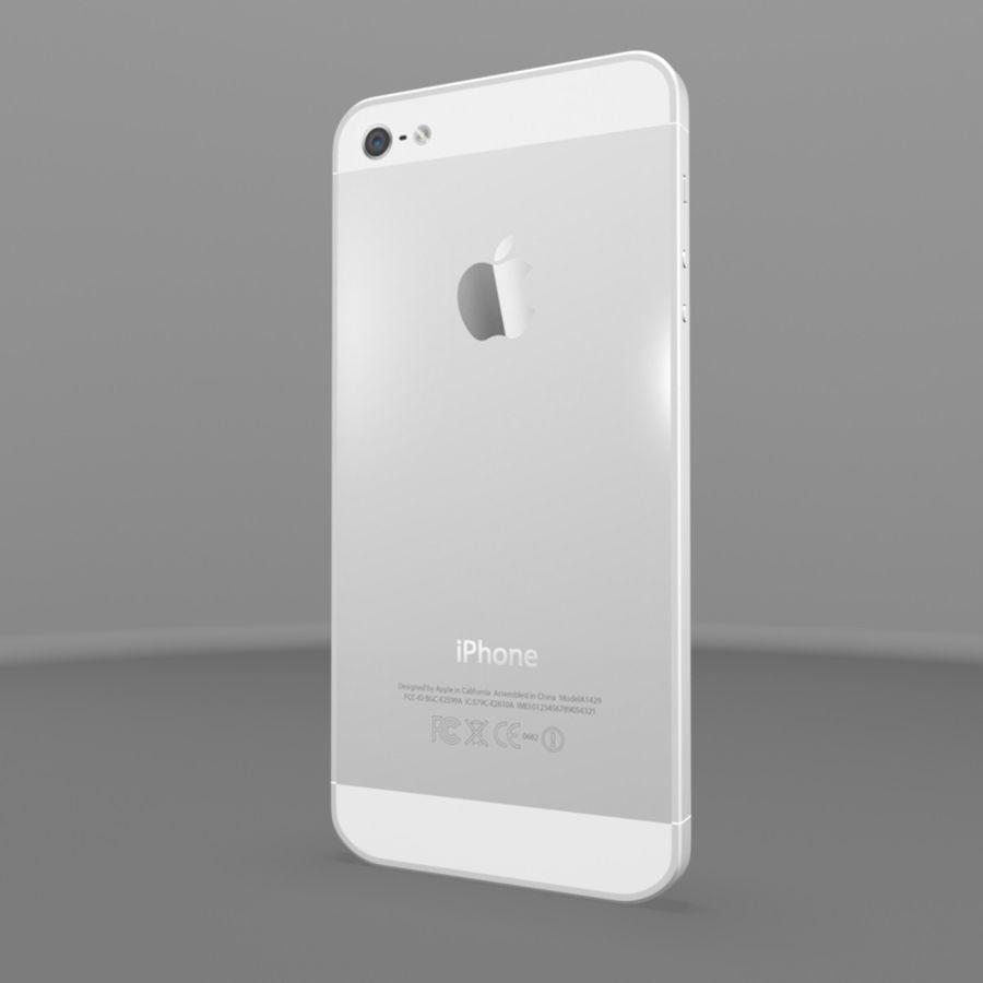 苹果iPhone 5s royalty-free 3d model - Preview no. 4