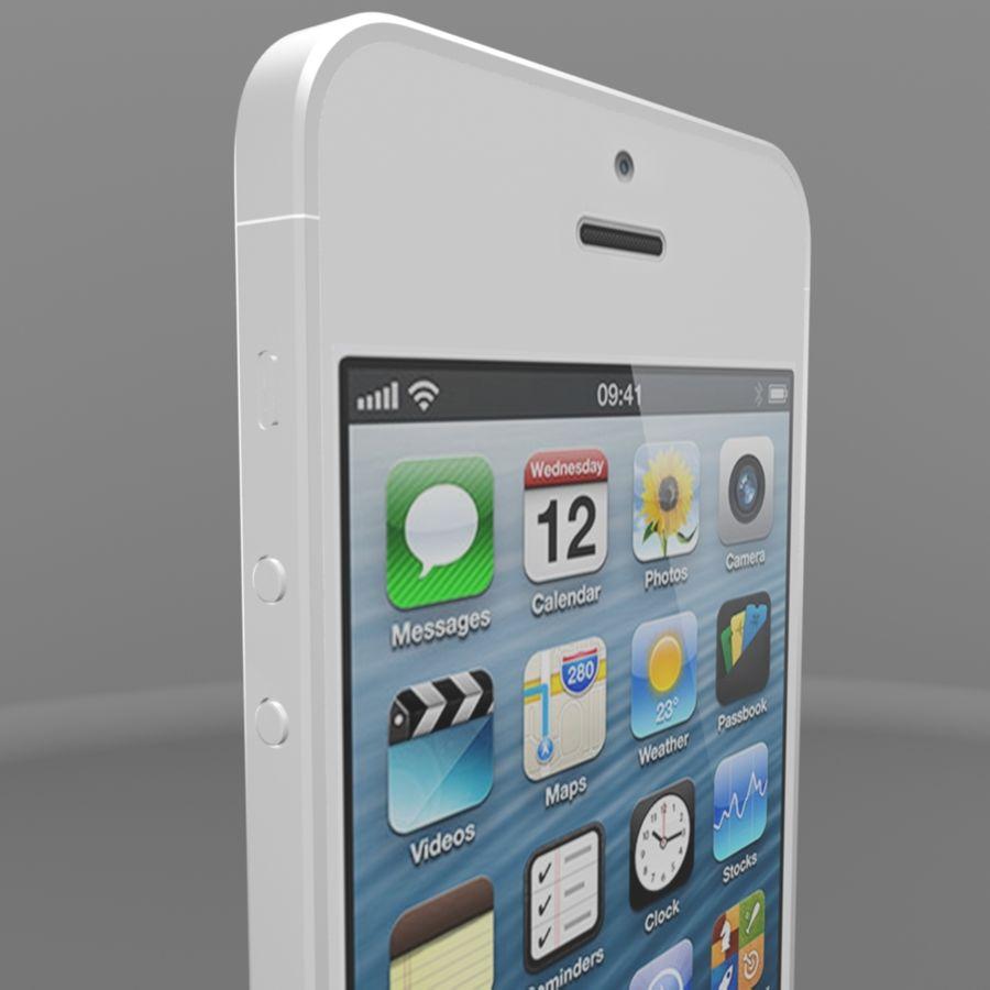 苹果iPhone 5s royalty-free 3d model - Preview no. 3
