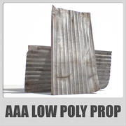AAA - Old Metal Roof Sheet - (Game ready) 3d model
