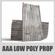 AAA-旧金属屋顶板-(可用于游戏) 3d model