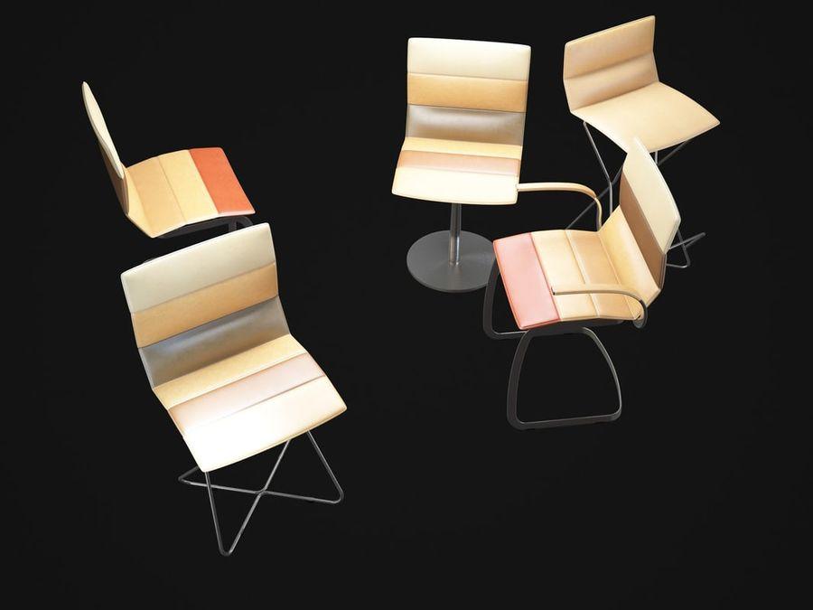 Krzesła DRESS royalty-free 3d model - Preview no. 8