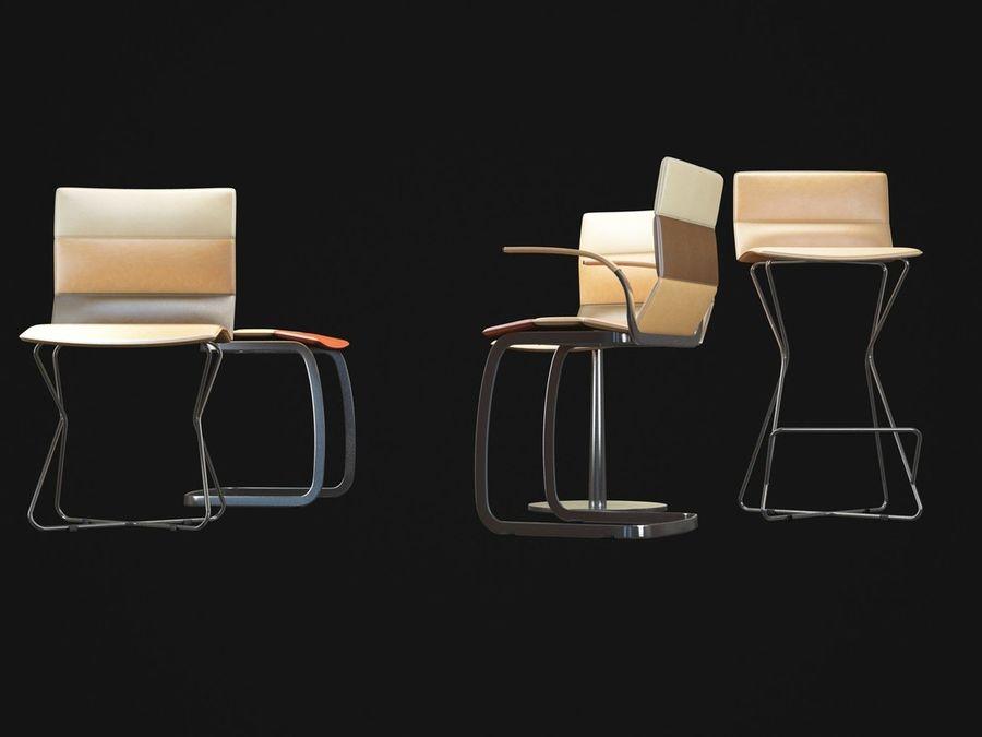 Krzesła DRESS royalty-free 3d model - Preview no. 6