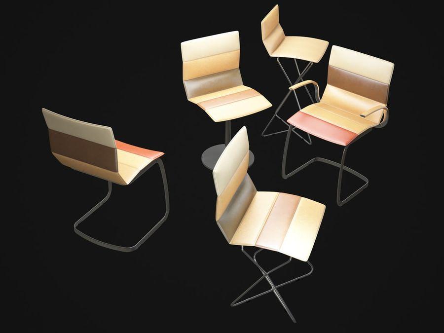 Krzesła DRESS royalty-free 3d model - Preview no. 3