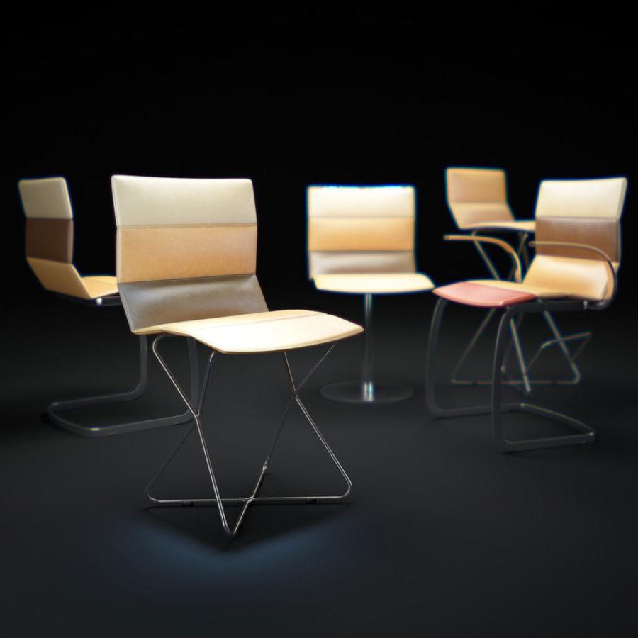 Krzesła DRESS royalty-free 3d model - Preview no. 1