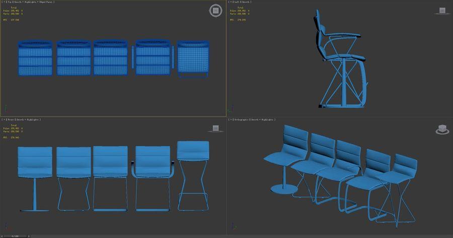 Krzesła DRESS royalty-free 3d model - Preview no. 9