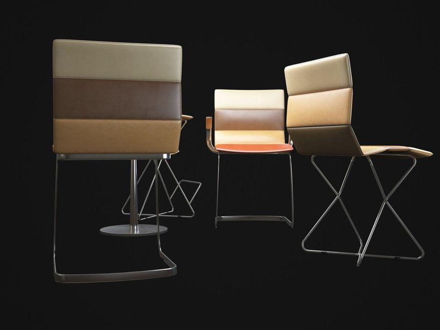 Krzesła DRESS royalty-free 3d model - Preview no. 4