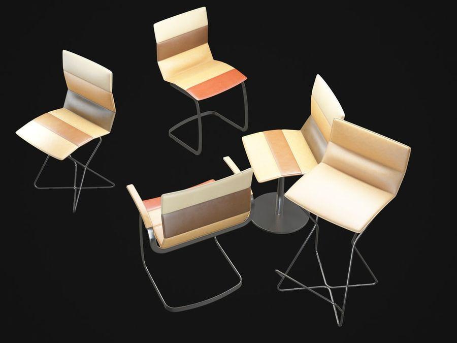 Krzesła DRESS royalty-free 3d model - Preview no. 7
