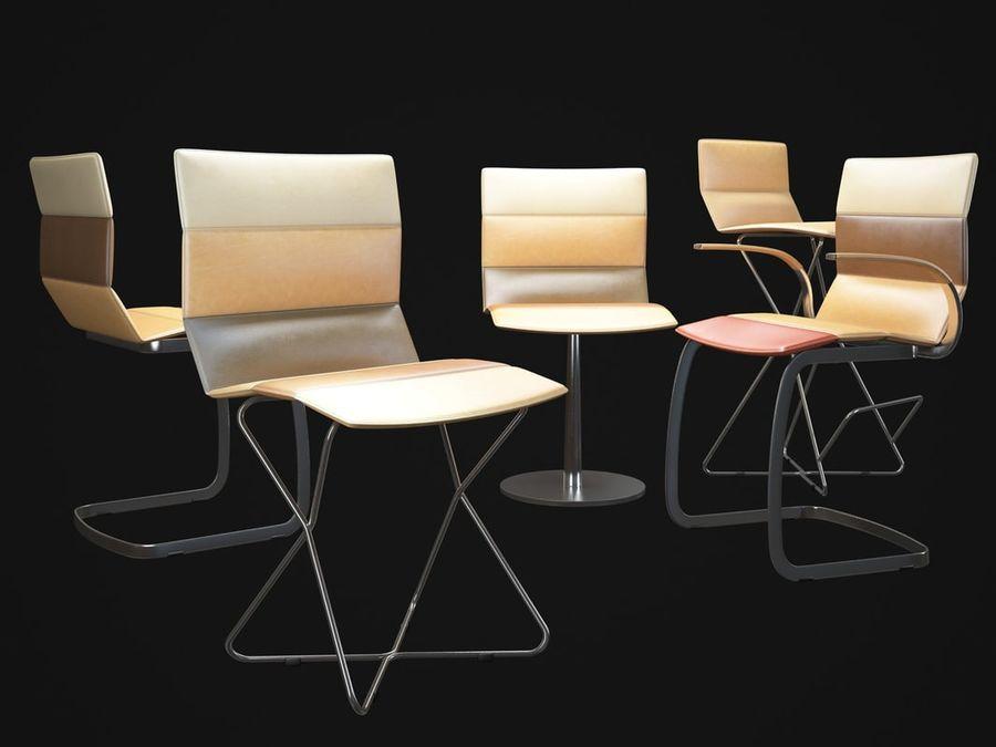 Krzesła DRESS royalty-free 3d model - Preview no. 2