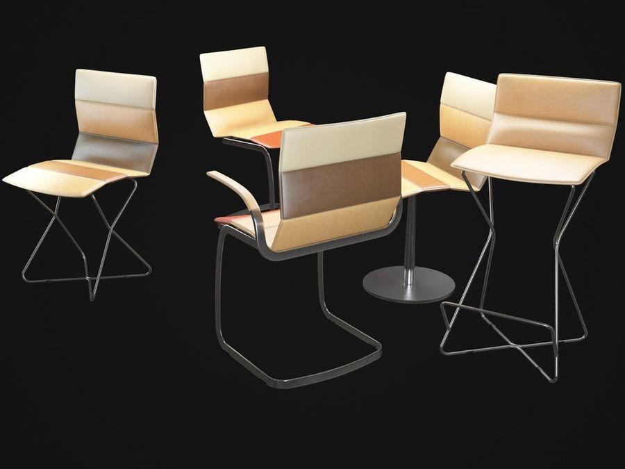 Krzesła DRESS royalty-free 3d model - Preview no. 5