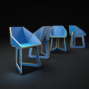 Plywood-chair 3d model