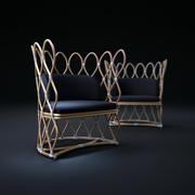 Petal-Rattan-Chair 3d model