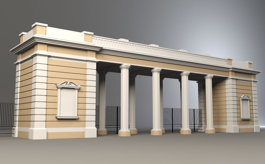 Architectural  arch royalty-free 3d model - Preview no. 2