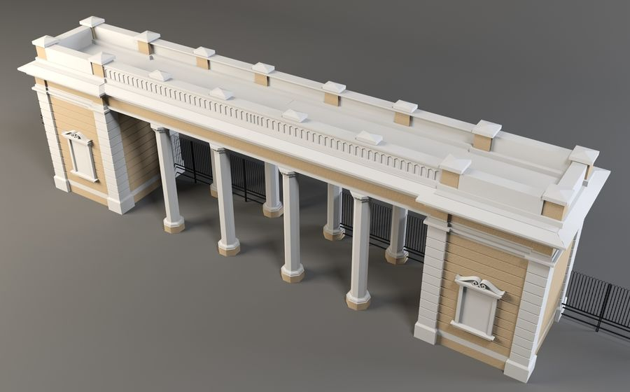 Architectural  arch royalty-free 3d model - Preview no. 5