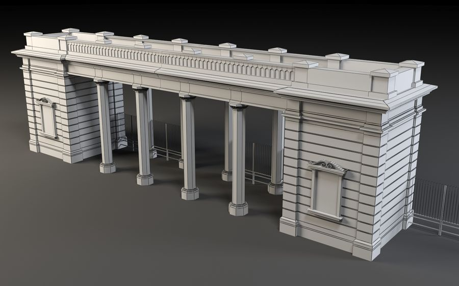 Architectural  arch royalty-free 3d model - Preview no. 14