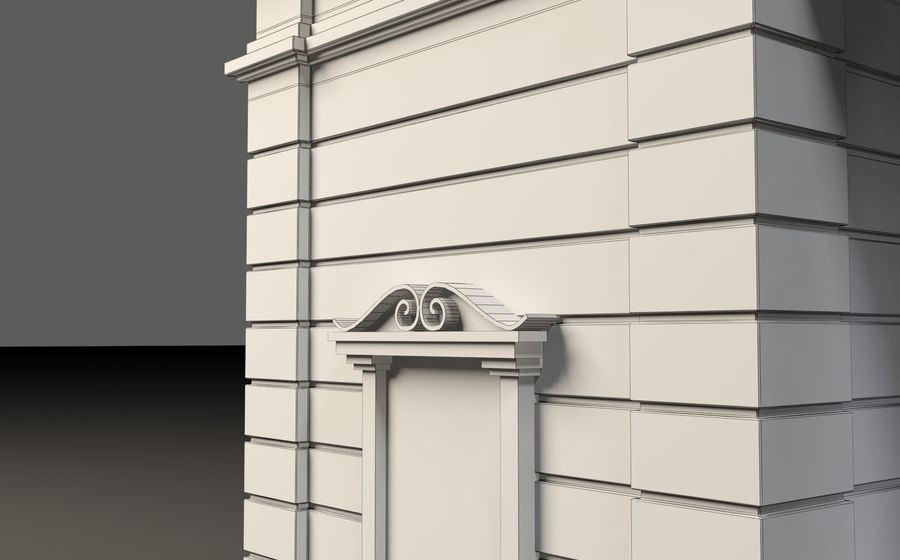 Architectural  arch royalty-free 3d model - Preview no. 13