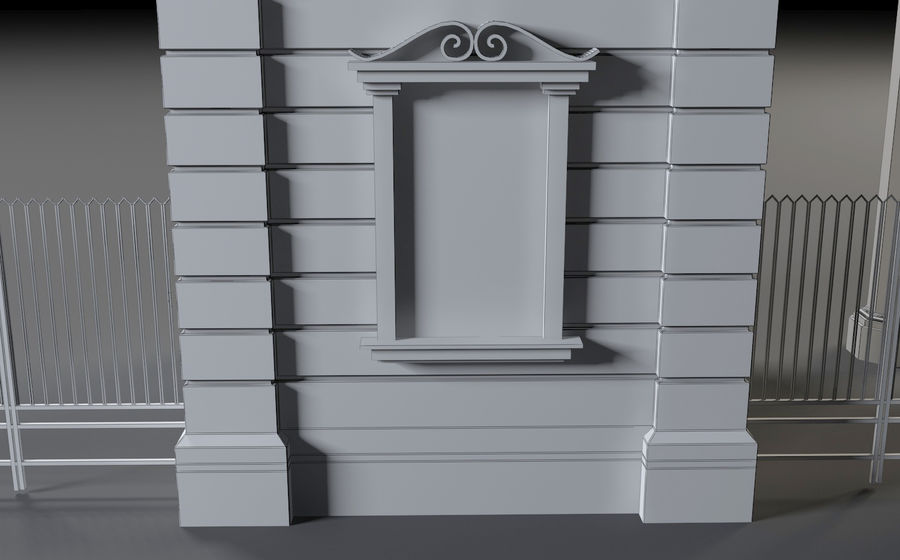 Architectural  arch royalty-free 3d model - Preview no. 12