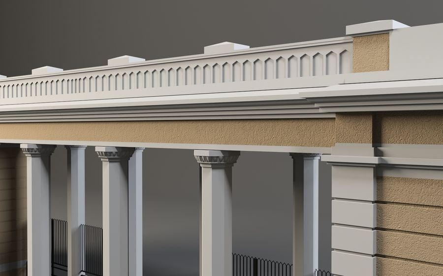 Architectural  arch royalty-free 3d model - Preview no. 3