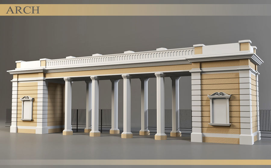 Architectural  arch royalty-free 3d model - Preview no. 1