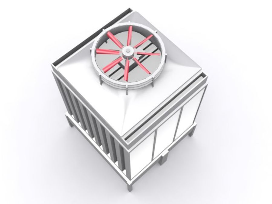 Soğutma kulesi royalty-free 3d model - Preview no. 4