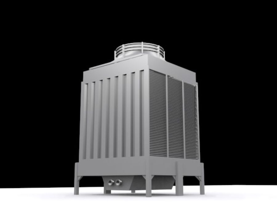 Soğutma kulesi royalty-free 3d model - Preview no. 2