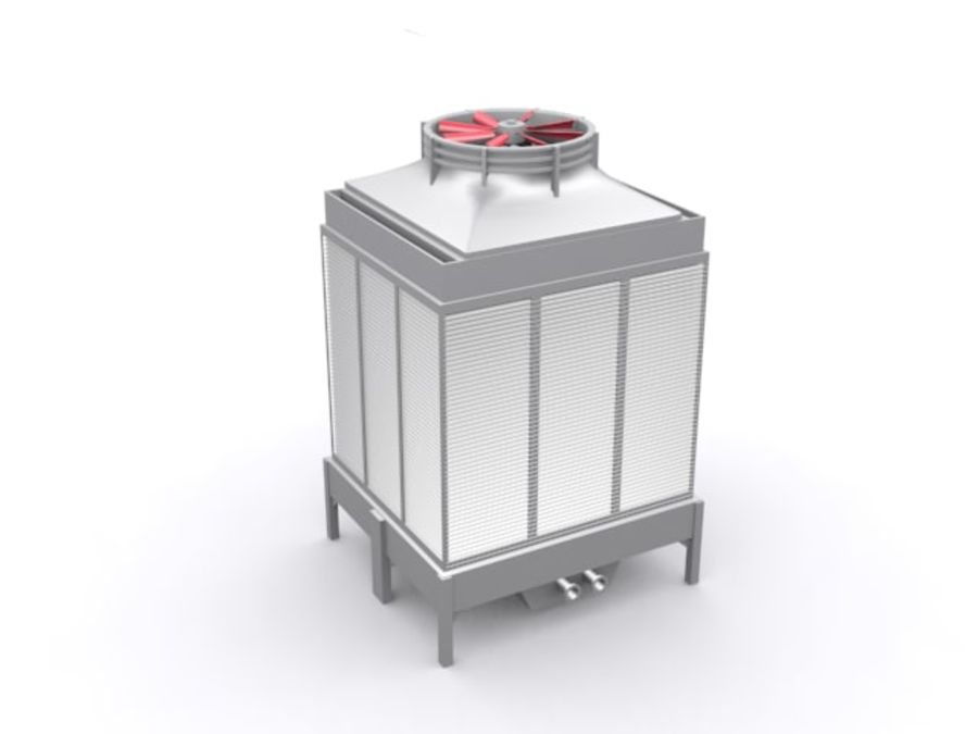 Soğutma kulesi royalty-free 3d model - Preview no. 5